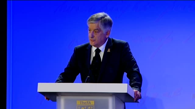 football association celebrates 150th anniversary interviews and press conference david bernstein speech sot - football association stock videos & royalty-free footage
