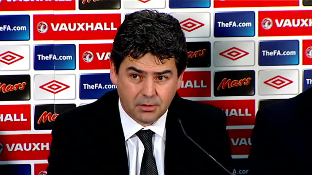 football association deny forcing fabio capello from job / speculation over england manager job int adrian bevington [md] sot very important moment... - football association stock videos & royalty-free footage