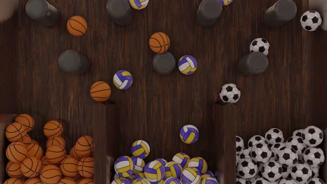 vidéos et rushes de football, basket-ball et ballons de volley-ball plinko jeu de balle cryptoart - loterie