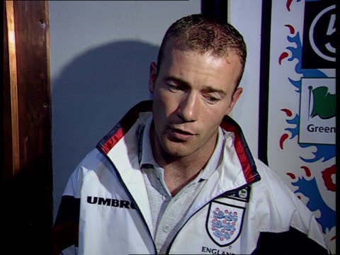 England beat Poland ITN ENGLAND Luton Airport Alan Shearer intvw First time England side has won there for 30yrs/ last time was World Cup winning...