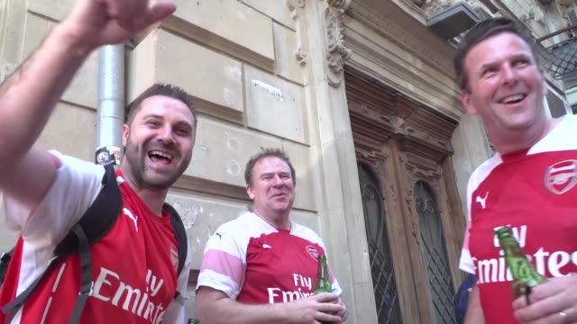 Football fans are ready for the match between Chelsea and Arsenal in the Europa League final in the unfamiliar setting of Azerbaijan