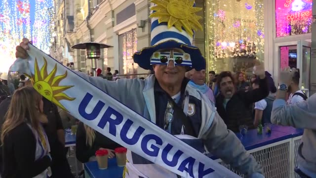 football fans fans gather in central moscow during the 2018 fifa world cup on june 14 2018 - soccer competition stock videos & royalty-free footage