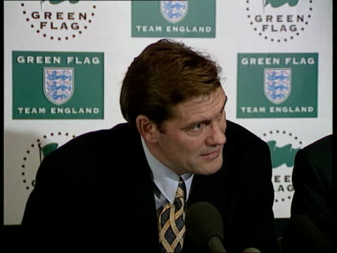 gasgoine selected for england football gasgoine selected for england int london lancaster gate glenn hoddle pkf sot don't condone what he has done... - glenn hoddle stock videos & royalty-free footage