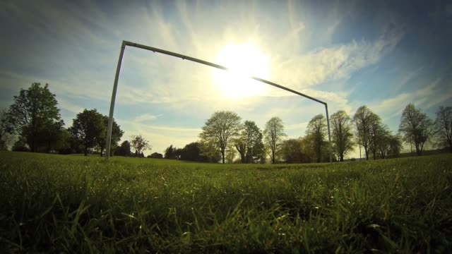 Football (Soccer) Goalposts - Clouds Timelapse