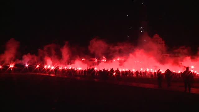 football hooligans riot - fan enthusiast stock videos & royalty-free footage