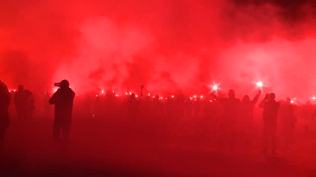 football hooligans riot - aggression stock videos & royalty-free footage