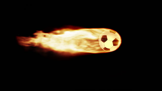 football in flames - burning stock videos & royalty-free footage