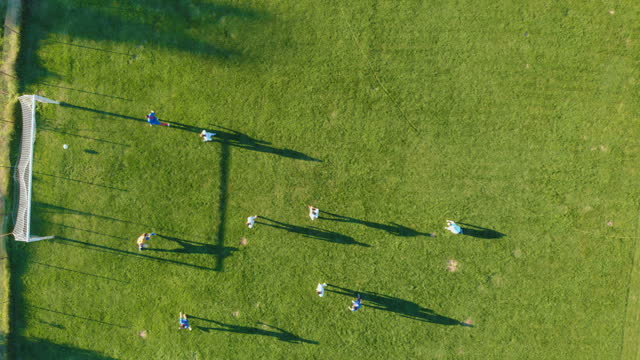 football match aerial view - sports round stock videos & royalty-free footage