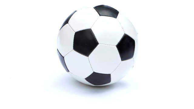 Football or soccer ball isolated on white.