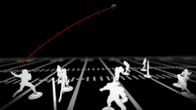 football passing play. - offense sporting position stock videos and b-roll footage