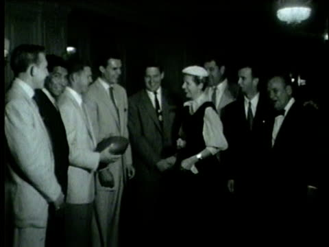 football players sign with the chicago cardinals in 1954 - 1954 stock videos & royalty-free footage