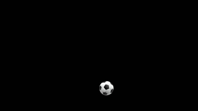 football, soccer ball bouncing with alpha channel - bouncing stock videos & royalty-free footage