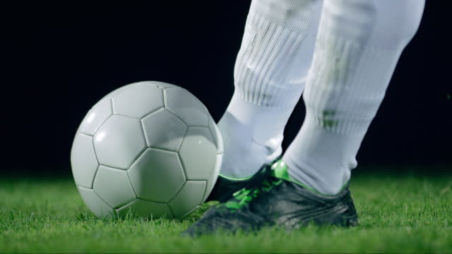 football/ soccer ball kick, detail, timeramp - studded stock videos and b-roll footage