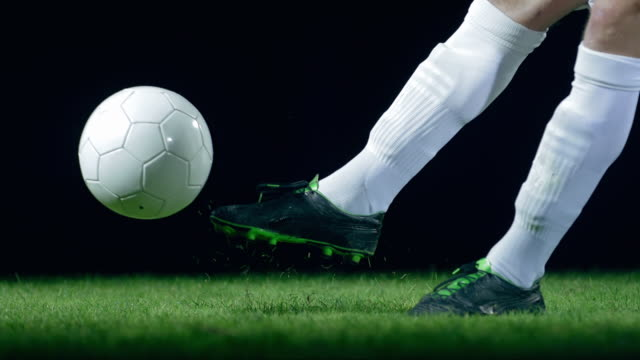 football/ soccer ball kick, timeramp - studded stock videos and b-roll footage