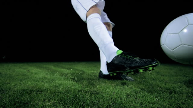 football/ soccer ball kick, timeramp - kicking stock videos & royalty-free footage