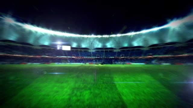 fußballstadion-animation - football feld stock-videos und b-roll-filmmaterial