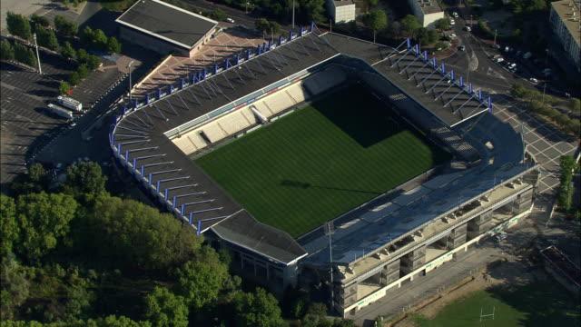 aerial, football stadium, stade de la mosson, montpellier, languedoc-roussillon, france - モンペリエ点の映像素材/bロール