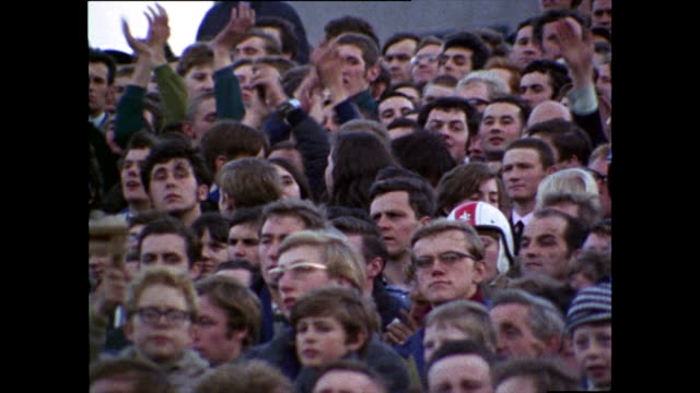 football supporters chant for chelsea fc; 1969 - masculinity stock videos & royalty-free footage