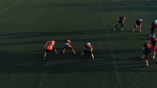 Football training outdoors