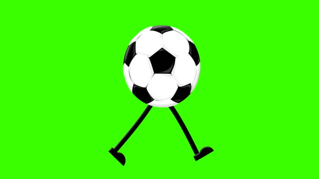 football walking cycle on a mock-up green screen background - gambling stock videos & royalty-free footage