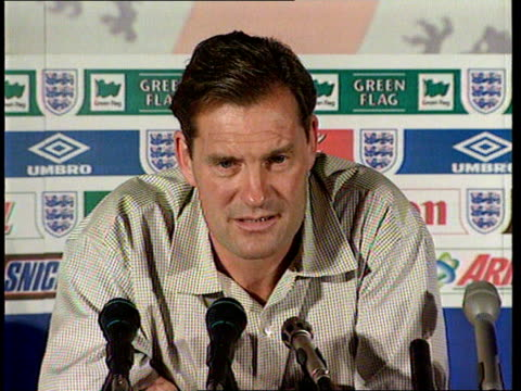 world cup itn brittany la baule int glenn hoddle pkf hurts the same as the 1986 defeat - glenn hoddle stock videos & royalty-free footage