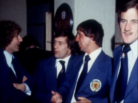 scottish team reception argentina ms guests at reception in british embassy cs minister of sport denis howell cms ally mcleod cs willie johnston and... - 1978 stock videos & royalty-free footage