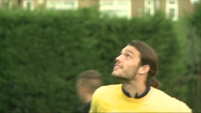 Footballer Andy Carroll escapes gunmen R23101410 London EXT Andy Carroll training with other West Ham players