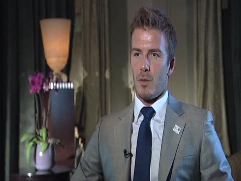 Footballer David Beckham talks about the possibility of England hosting the World Cup in 2018 during an interview Zurich 14 May 2010