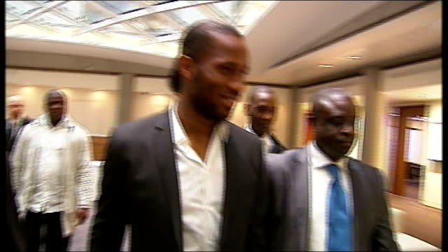 Footballer Didier Drogba to join Ivorian Truth and Reconciliation Commission arrival at hotel and photocall ENGLAND London Mint Hotel PHOTOGRAPHY **...