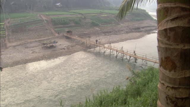 WS HA PAN Footbridge and Mekong River, Cambodia