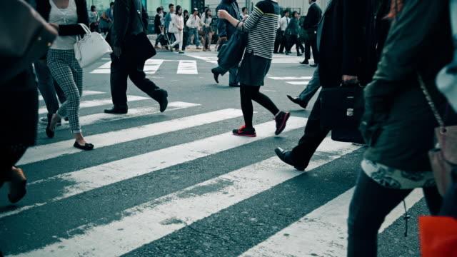 Footfall at Scramble Crossing