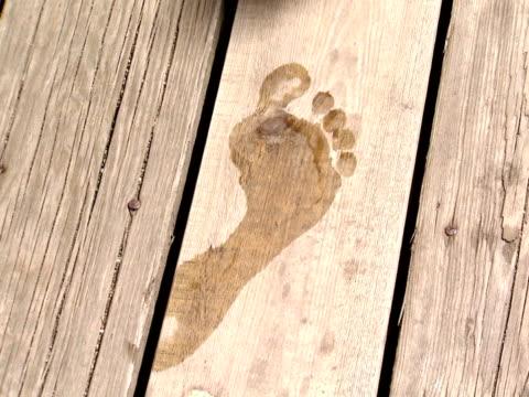 A footprint on wood Sweden.
