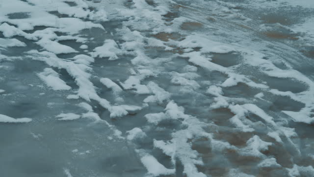 footprints on the thin ice - thin stock videos & royalty-free footage