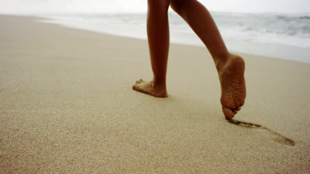 footsteps in the soft sand - softness stock videos & royalty-free footage