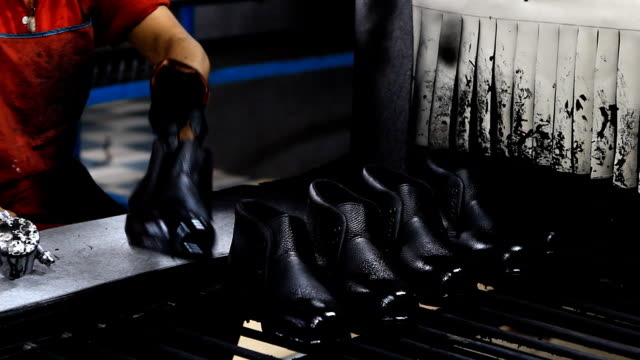 footwear production - slingback shoe stock videos & royalty-free footage