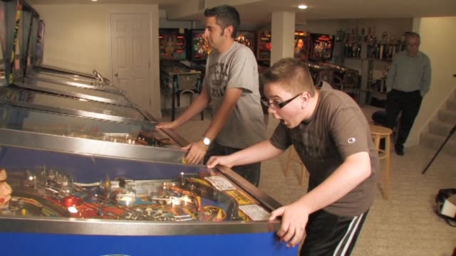 for anyone over 40 pinball was the test of skill of their youth played in bars cafes bowling alleys pool halls and arcades around the world melrose... - pinball machine stock videos & royalty-free footage