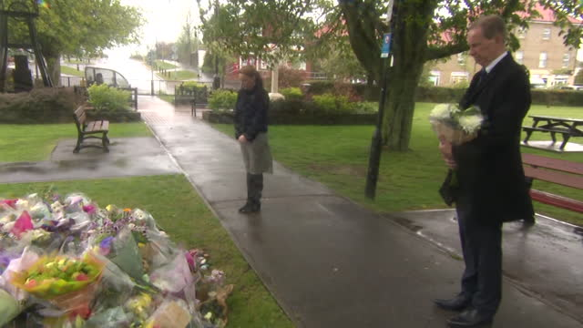 for dover and deal, natalie elphicke laying flowers in memory of murder pcso julia james - bunch stock videos & royalty-free footage