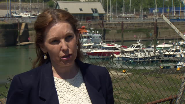 for dover natalie elphicke saying there has been a worrying trend of migrants arriving from routes associated with modern slavery and trafficking - journey stock videos & royalty-free footage