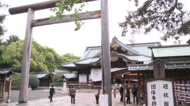 for japans neighbours the leafy yasukuni shrine is a brutal reminder of tokyo's imperialist past and wartime aggression but for many ordinary... - place of worship stock videos & royalty-free footage