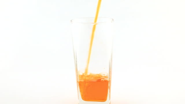 Pour orange juice
