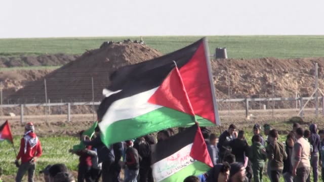 for the 46th week in a row, palestinians on friday converged along the gaza-israel buffer zone to take part in ongoing rallies against israel's... - historical palestine stock videos & royalty-free footage