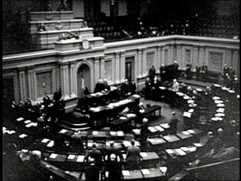 for the first time ever cameras show us the inner workings of the us senate in session - united states senate stock videos & royalty-free footage