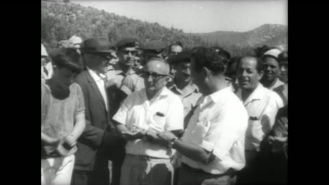for the first time in 19 years, latrun highway, running from jerusalem to tel aviv, is reopened by the israelis after jordanian occupation had closed... - 1967 stock videos & royalty-free footage