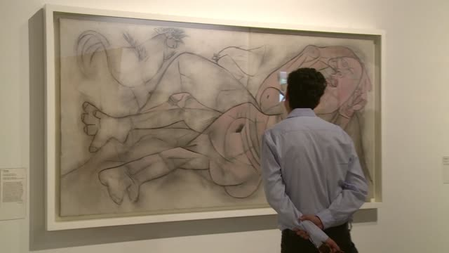 for the first time in chile 135 picasso artworks from paris's picasso museum are on show in the country's capital in an exhibition tracing the... - tracing stock videos and b-roll footage