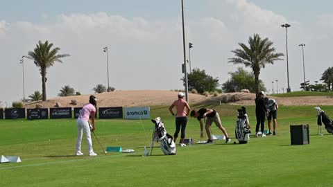 for the first time, saudi arabia has hosted the ladies european golf tour at king abdullah economic city in jeddah - jiddah stock videos & royalty-free footage