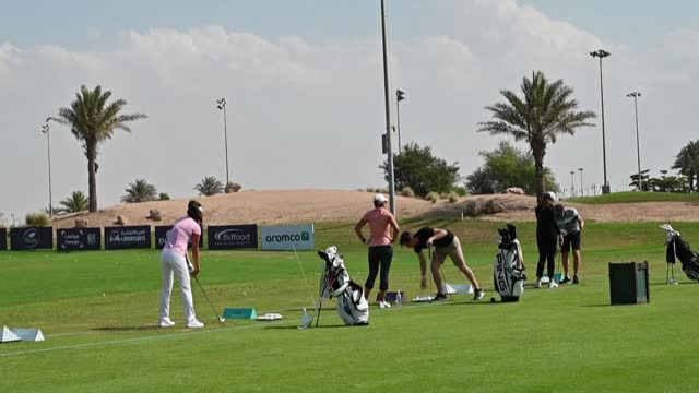 for the first time, saudi arabia has hosted the ladies european golf tour at king abdullah economic city in jeddah - jiddah stock-videos und b-roll-filmmaterial
