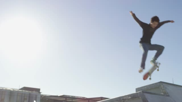 for the love of flying - skateboarding stock videos & royalty-free footage
