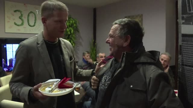 for the month of january a restaurant in vienna is offering free meals to people in need after a homeless woman who was trying to light a fire to... - vienna austria stock videos & royalty-free footage