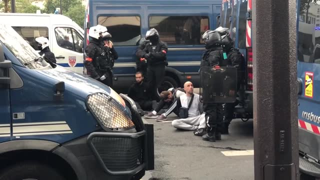 for the third week in a row, anti-vaccine and anti-health pass demonstrations continued in france amid rising covid-19 infection rates. saturday's... - four objects stock videos & royalty-free footage