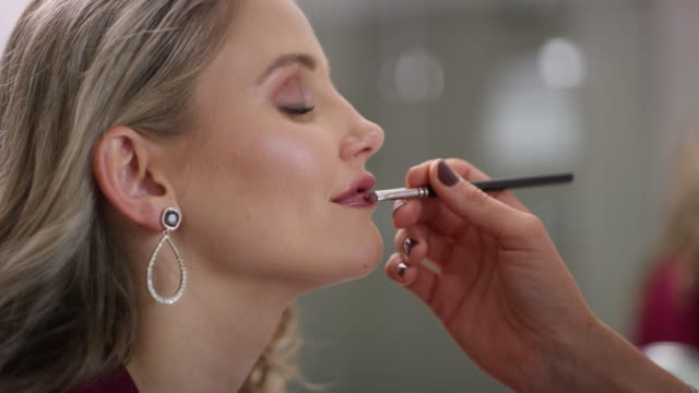 "for the ""you may now kiss the bride"" moment - lipstick stock videos & royalty-free footage"